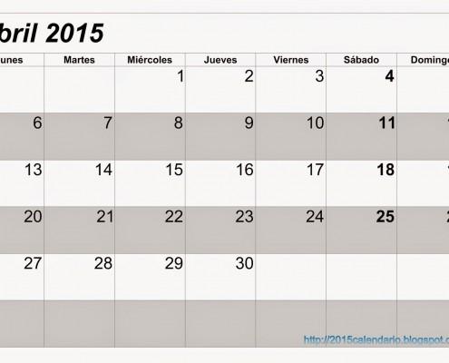 Calendario Abril 2015 3